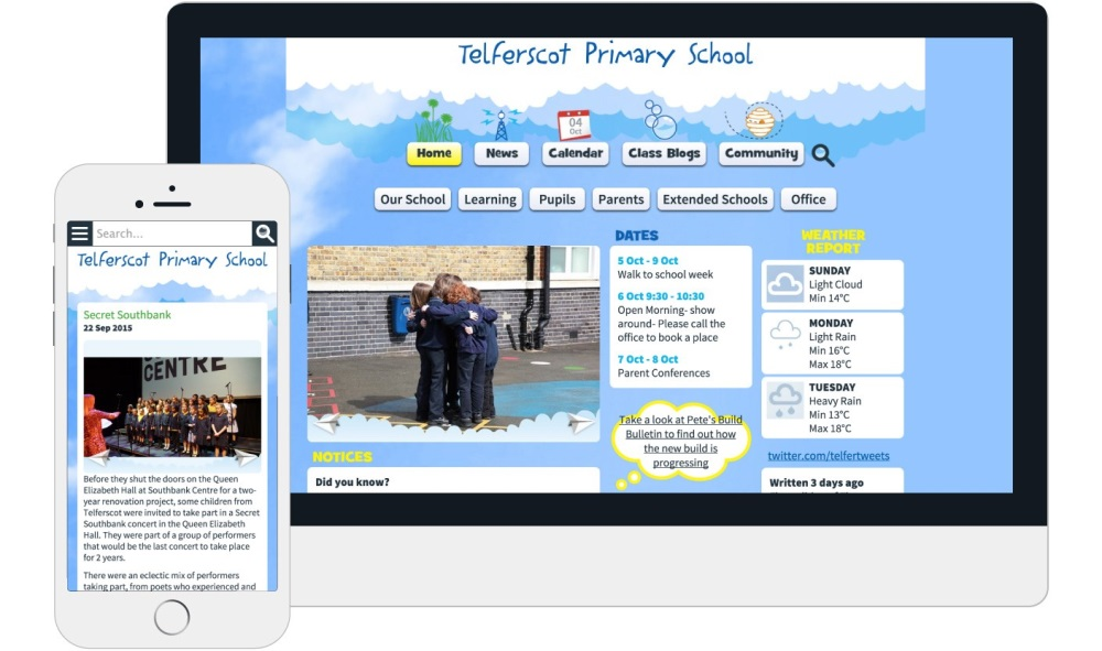 Responsive Website Design <b>Telferscot Primary School</b>
